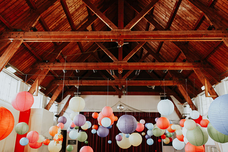 Hanging Lanters Multicolour All The Colours Quirky Dinosaur Wedding https://leahlombardi.com/