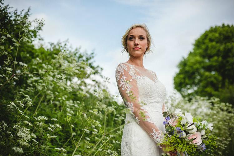 Ellis Bridal Long Lace Sleeves Dress Bride Bridal Gown Garden of Hygge Wedding Ideas http://www.sophieduckworthphotography.com/