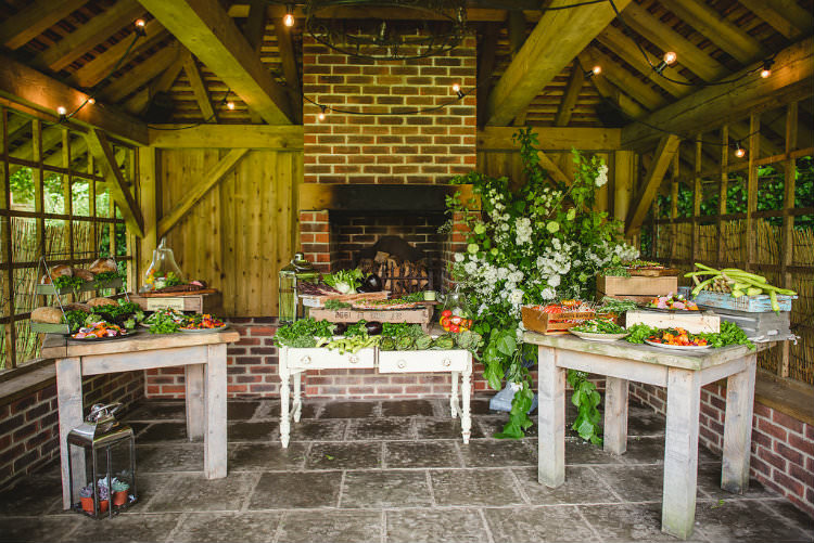 Food Catering Table Decor Meal Garden of Hygge Wedding Ideas http://www.sophieduckworthphotography.com/
