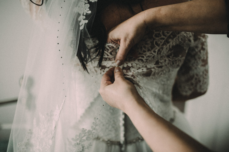 Lace Dress Gown Bride Bridal Woodland Lavender Spring Country Wedding http://www.carlablainphotography.co.uk/