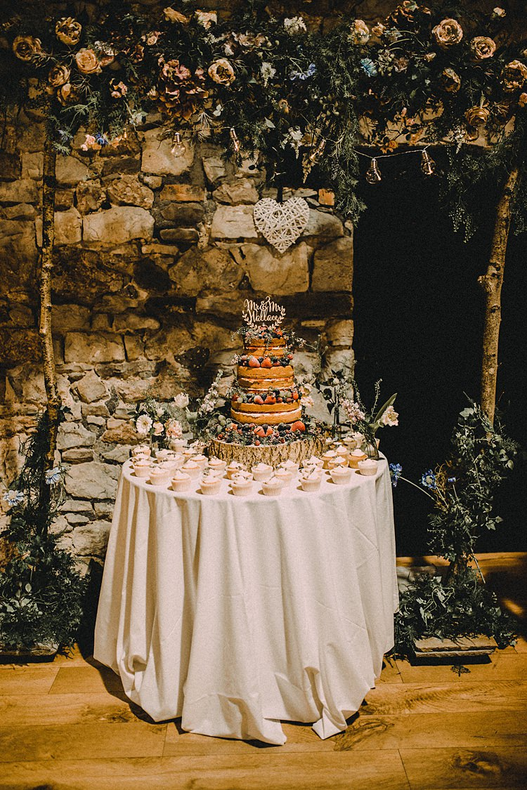 Flower Arch Backdrop Cake Table Woodland Lavender Spring Country Wedding http://www.carlablainphotography.co.uk/