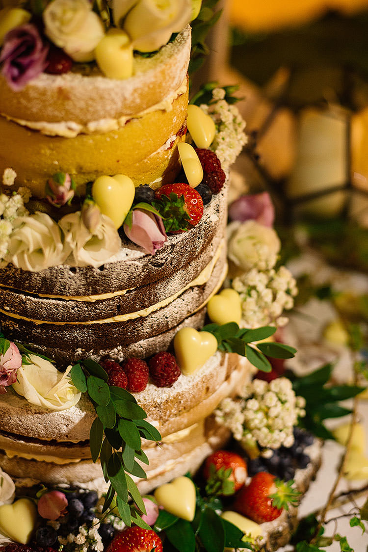 Naked Cake Tower Sponge Layer Fruit Berries Charming Natural Countryside Tipi Wedding http://www.pauljosephphotography.co.uk/