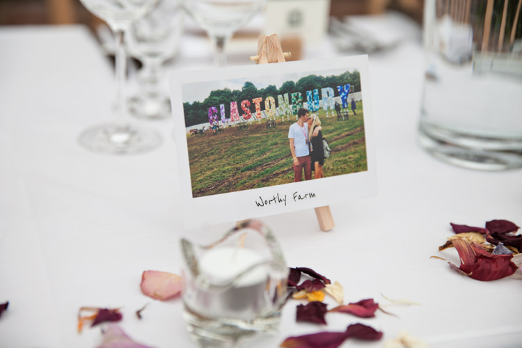 Polariod Table Names Photos Summer Festival Country Estate Wedding http://kerryannduffy.com/