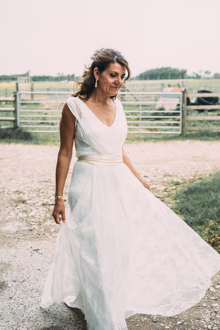 Bride Bridal Charlie Brear Dress Gown Sash Sleeveless Overlay Fun Laid Back DIY Rustic Marquee Wedding http://www.louisegriffinphotography.com/