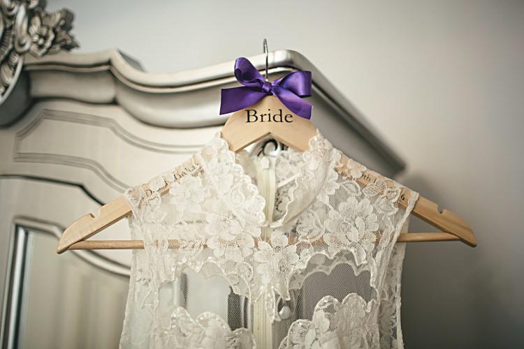 Custom Bride Bridal Hanger Colourful Home Made Vintage City Wedding http://kat-hill.com/