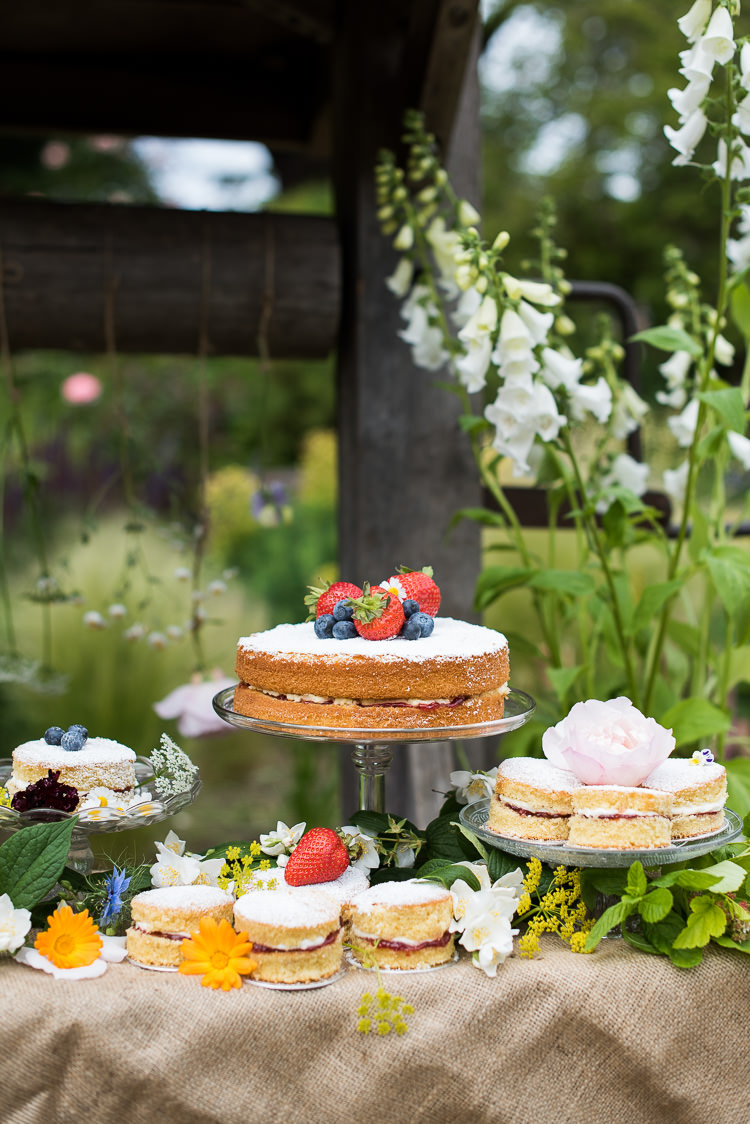 Cake Table Dessert Display Victoria Sponge Fruit Rose Flower Pretty Urban Nature Wedding Ideas http://www.fionasweddingphotography.co.uk/