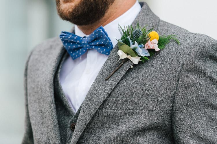 Polka Dot Bow Tie Groom Whimsical Wedding Sea Rustic Barn http://sugarbirdphoto.co.uk/