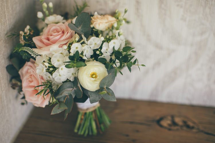 Bouquet Rose Bride Bridal Flowers Pretty Pale Pink Scenic Coast Wedding http://rachellambertphotography.co.uk/