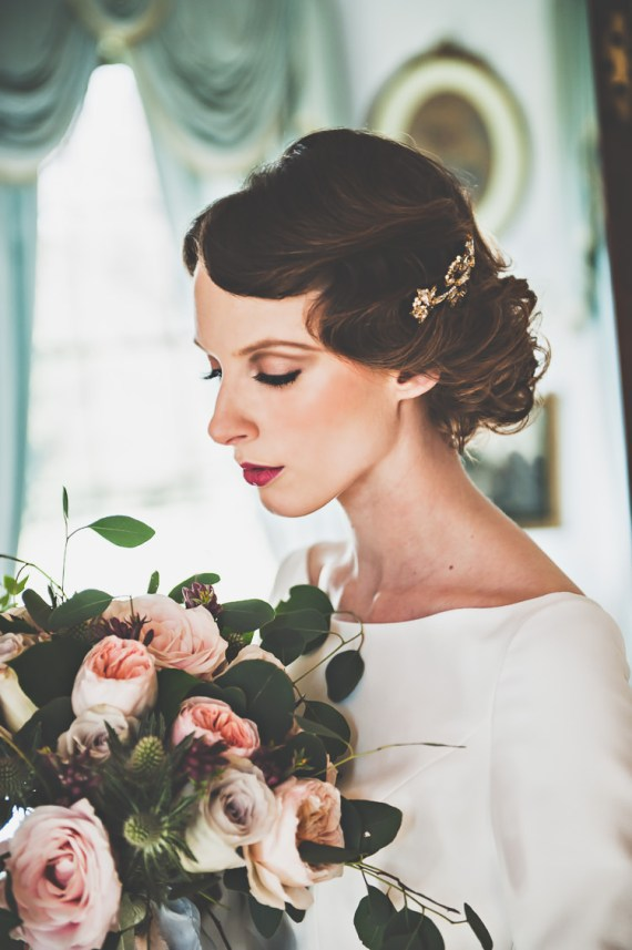 Thoroughly Modern Cecilia Atonement Glamorous 1940s Wedding Ideas http://ikonworks.co.uk/