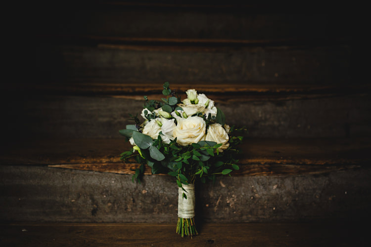 Cream Rose Flowers Bouquet Bride Bridl Foliage Industrial Rose Gold Dove Grey Greenery Wedding http://hbaphotography.com/