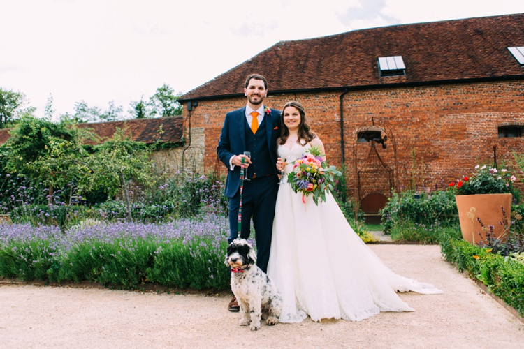 Dog Pet Bride Groom Colourful Mexican Garden Wedding http://jennifersmithphotography.co.uk/
