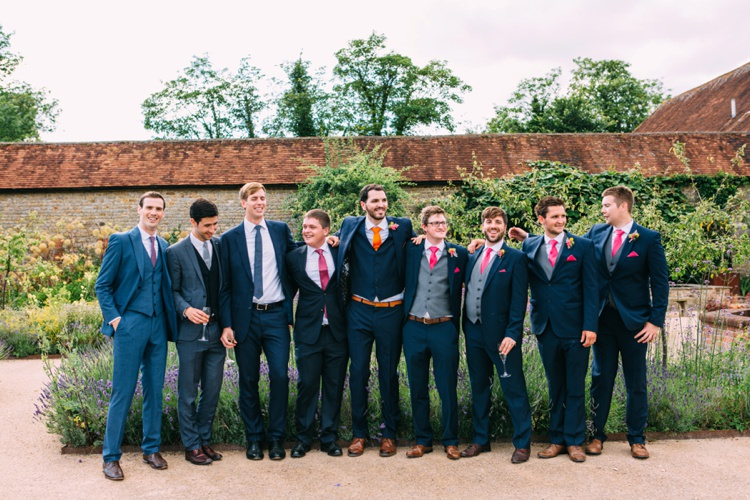 Groom Groomsmen Suits Colourful Mexican Garden Wedding http://jennifersmithphotography.co.uk/
