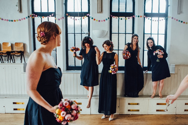 Mismatched Navy Bridesmaid Dresses Festoons Gold Sequin City Party Wedding http://septemberpictures.com/