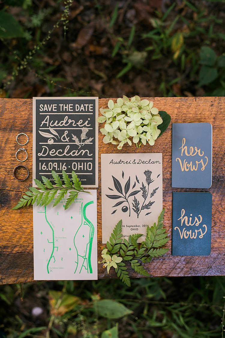 Vow Books Rings Greenery Whimsical Woods Wedding Barn Ohio http://www.connectionphotoblog.com/