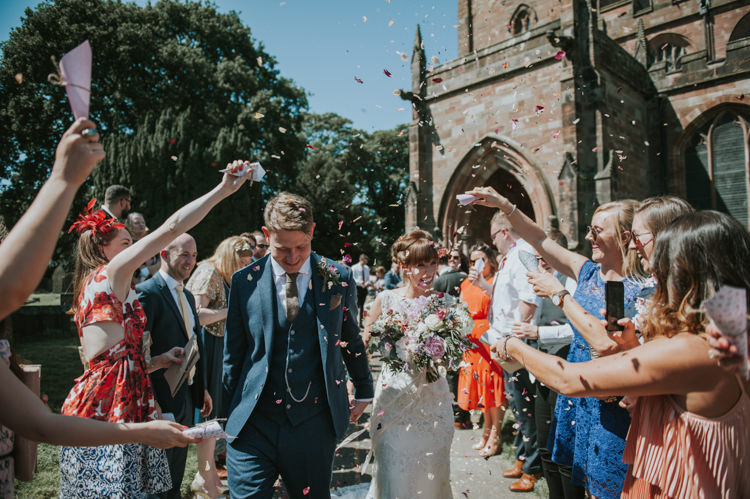 Confetti Throw Herbs Flowers Home Made Walled Garden Wedding https://www.rosiekelly.co.uk/