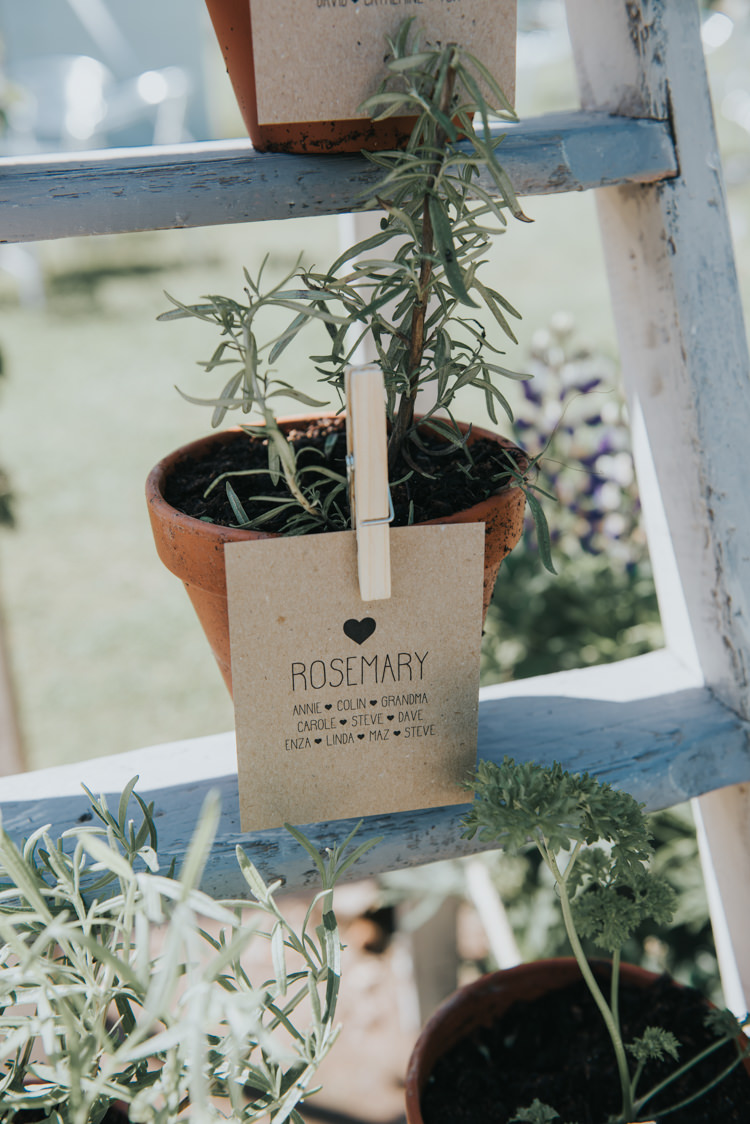 Potted Herb Ladder Seating Plan Chart Herbs Flowers Home Made Walled Garden Wedding https://www.rosiekelly.co.uk/