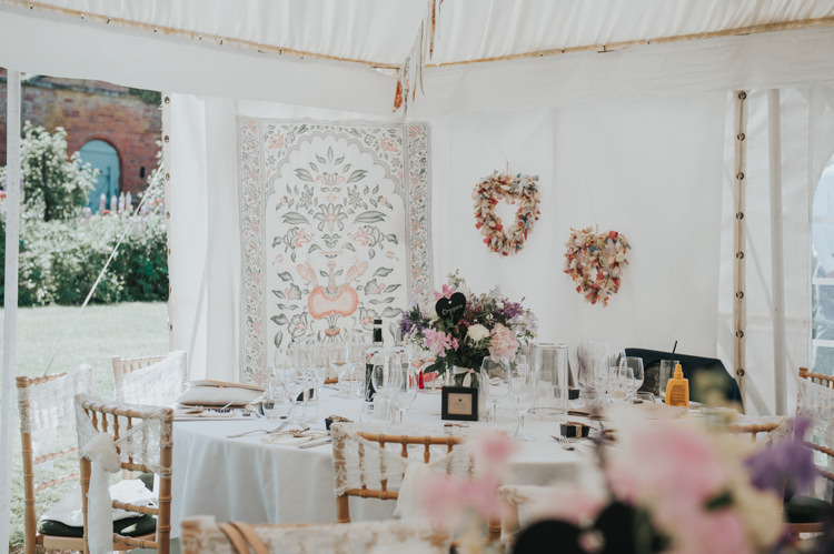 Marquee Decor Herbs Flowers Home Made Walled Garden Wedding https://www.rosiekelly.co.uk/