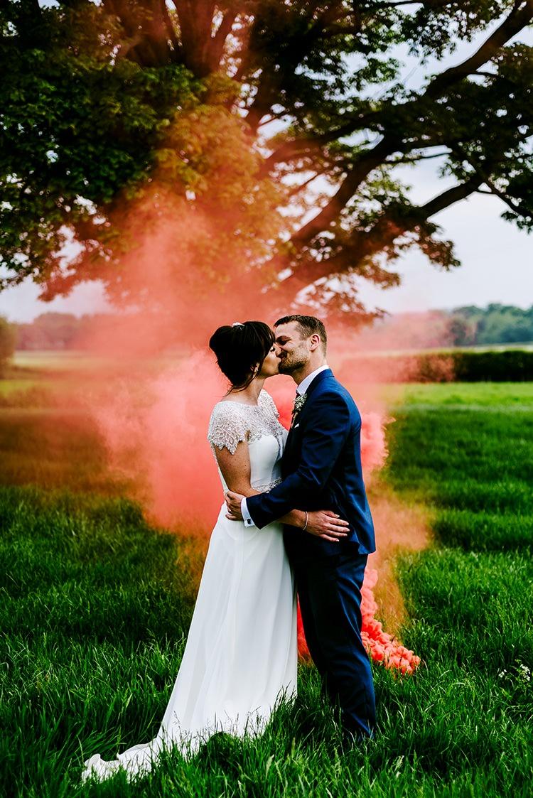 Smoke Bomb Wedding Portraits Images Photographs http://www.dmcclane.com/