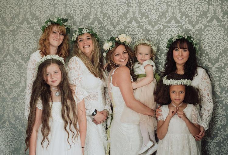 Bridesmaids Flower Girls Crowns Halos Headdress Enchanting Ancient Forest Wedding http://donnamurrayphotography.com/