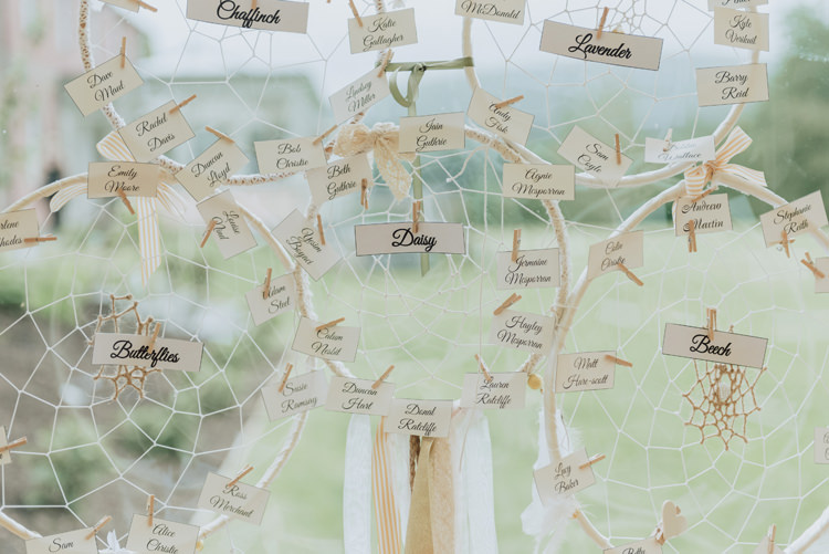 Dream Catcher Table Plan Seating Chart Enchanting Ancient Forest Wedding http://donnamurrayphotography.com/