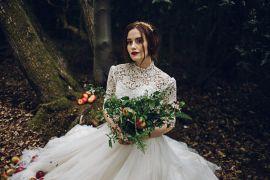 Tulle Lace Dress Gown Bride Bridal Magical Snow White Woodland Wedding Ideas https://www.chloeleephoto.co.uk/