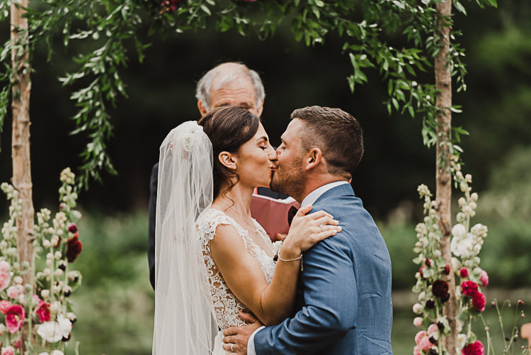 Stylish Woodland Tipi Wedding Flower Arch https://willpatrickweddings.com/