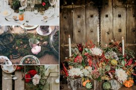Autumn Wedding Flowers Styling Ideas