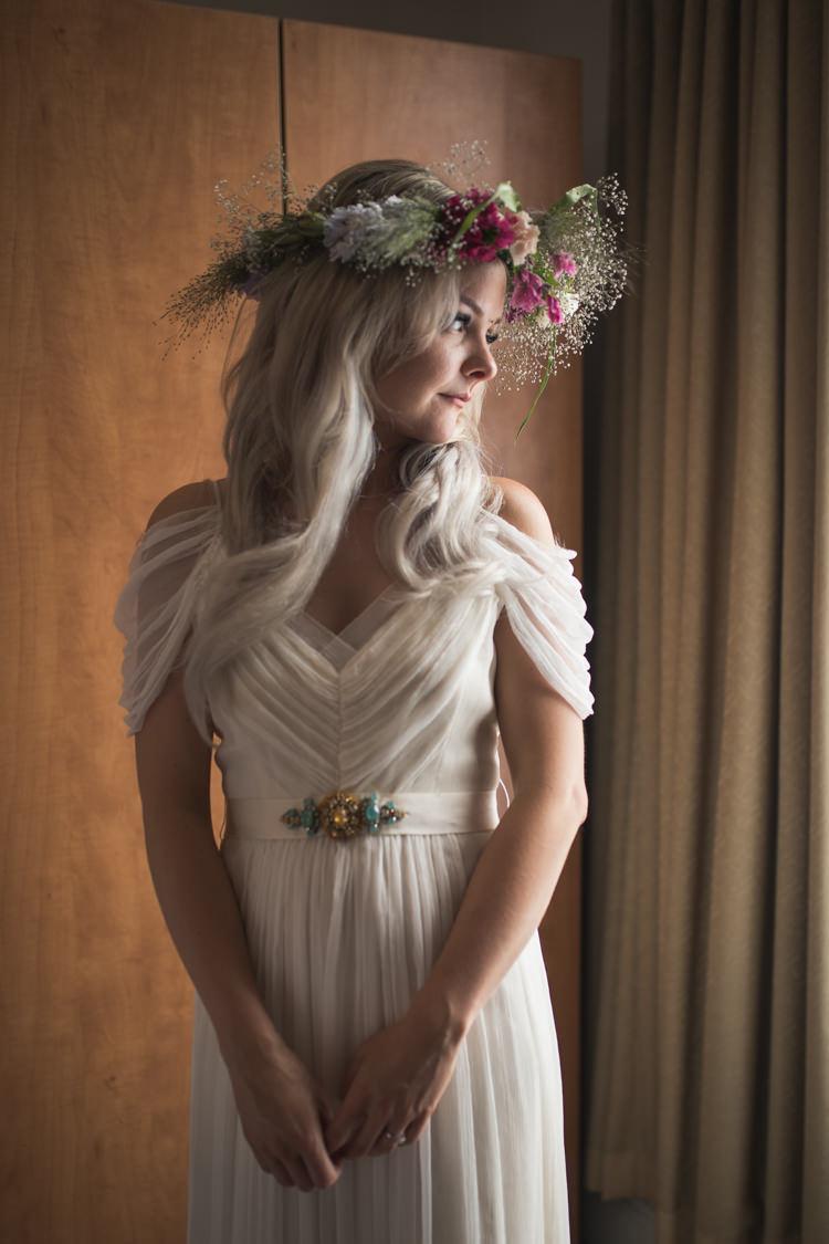 Saja Dress Off Shouled Bardot Straps Tulle Silk Bride Bridal Boho Festival Tipi Wedding http://alexaclarkekent.com/