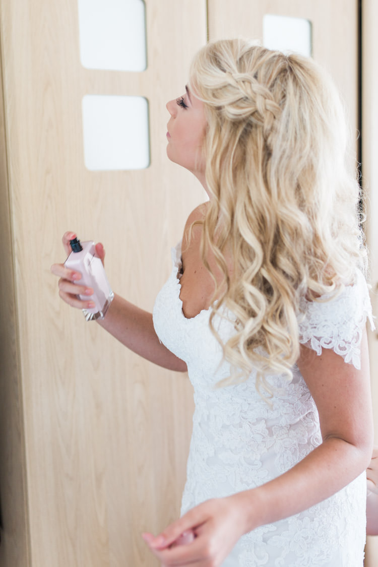 Hair Bride Bridal Style Blonde Waves Plait Braid Simple Natural Honest Marquee Wedding https://www.gemmagiorgio.com/