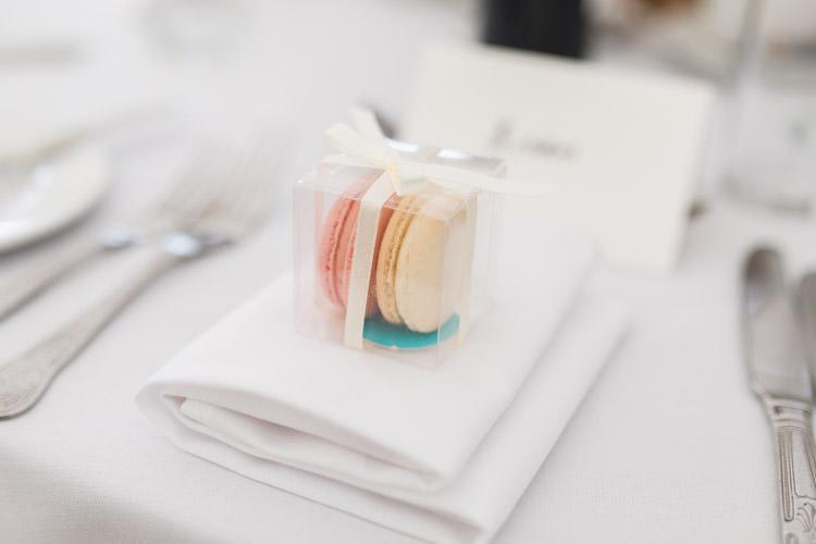 Macaron Favours Simple Natural Honest Marquee Wedding https://www.gemmagiorgio.com/