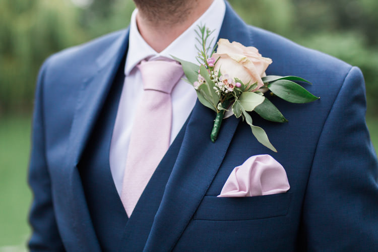 Rose Buttonhole Groom Simple Natural Honest Marquee Wedding https://www.gemmagiorgio.com/