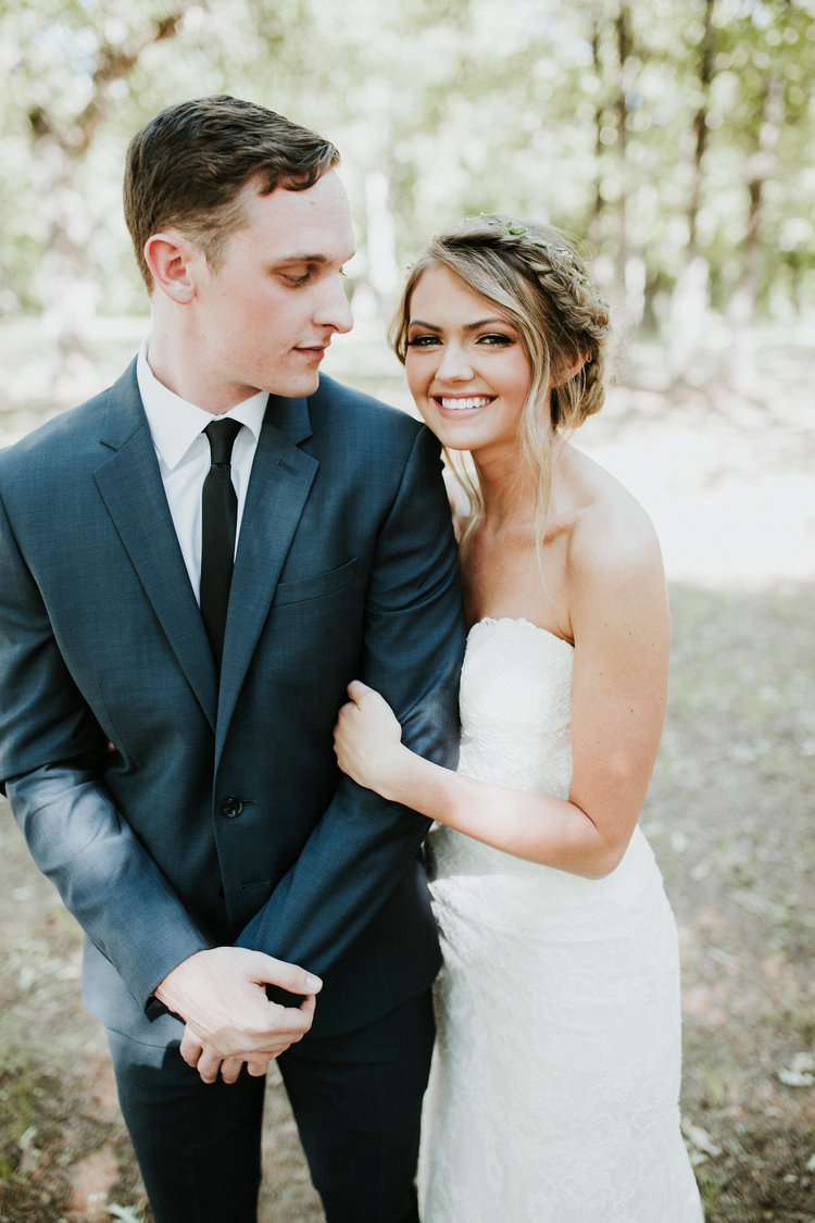 Outdoor Rustic Boho Forest Sweetheart Natural Updo Bride Groom Morning | Organic Earthy Fun Wedding Oklahoma http://zaynewilliams.com/