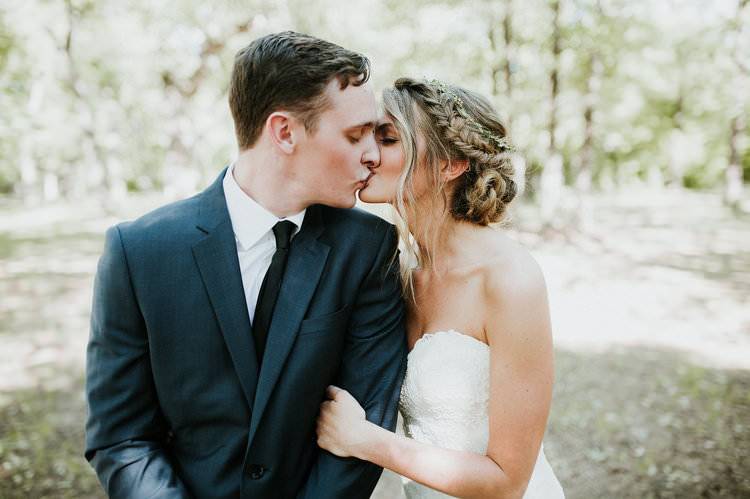 Outdoor Rustic Boho Natural Forest First Look Bride Groom Kiss | Organic Earthy Fun Wedding Oklahoma http://zaynewilliams.com/