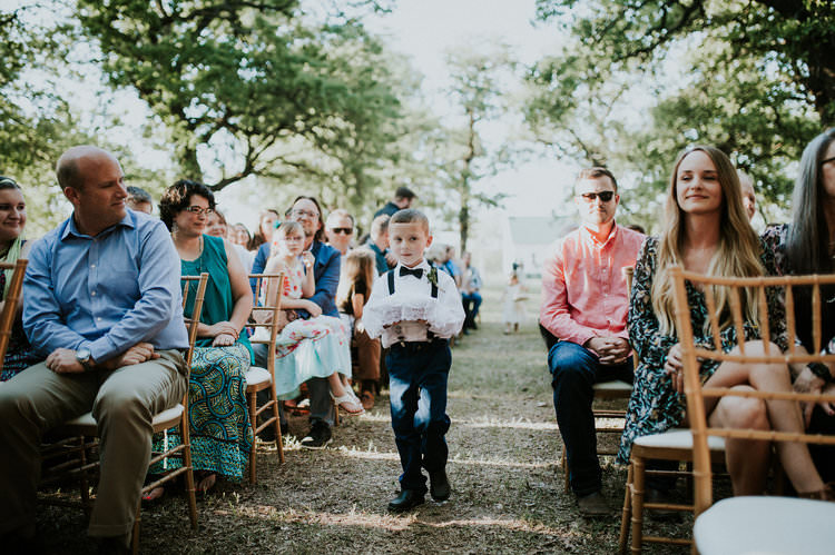 Outdoor Rustic Boho Forest Ceremony Page Boy Ring Bearer Navy Suit | Organic Earthy Fun Wedding Oklahoma http://zaynewilliams.com/
