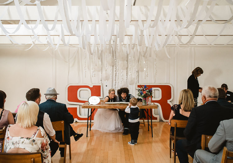 Streamers Ribbons Ceiling Hanging Ceremony Super Cool Informal Party Wedding http://www.luisholden.com/