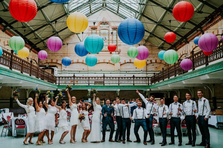 Colourful Cool Humanist Pool Wedding http://www.stevebridgwoodphotography.co.uk/