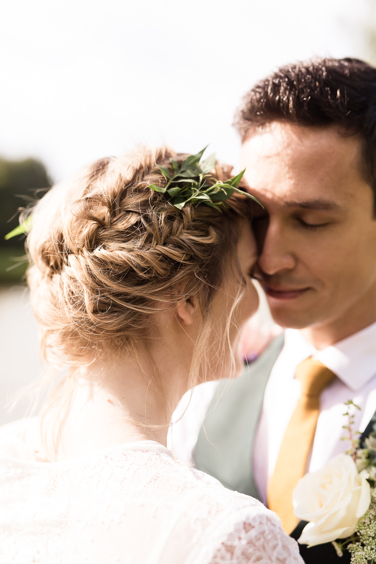Hair Bride Bridal Messy Plaits Braids Up Do Style Organic Rustic Greenery Wedding Ideas http://sarahbrookesphotography.com/