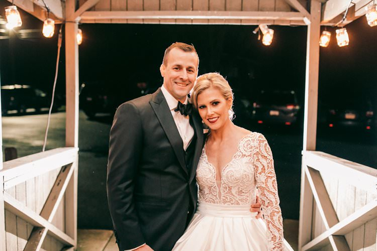 Bride Groom Portrait Outdoor Winter Barn Wedding | Festive Glamour Christmas New Years Eve Wedding http://www.stevendrayimages.com/