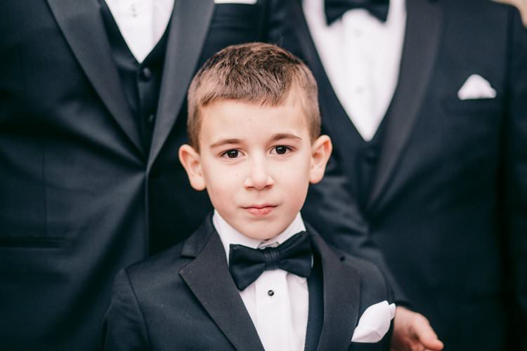Navy Suit Bow Tie Page Boy Cute Portrait | Festive Glamour Christmas New Years Eve Wedding http://www.stevendrayimages.com/