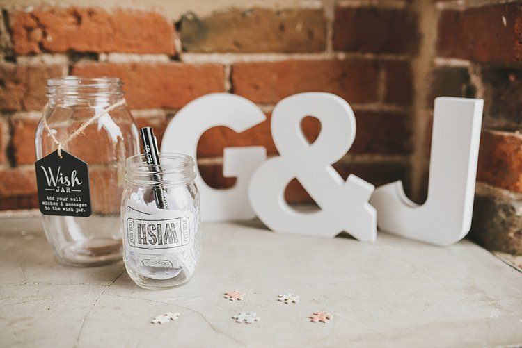 Wish Jar Untraditional Pretty Travel Barn Wedding https://www.georgimabee.com/