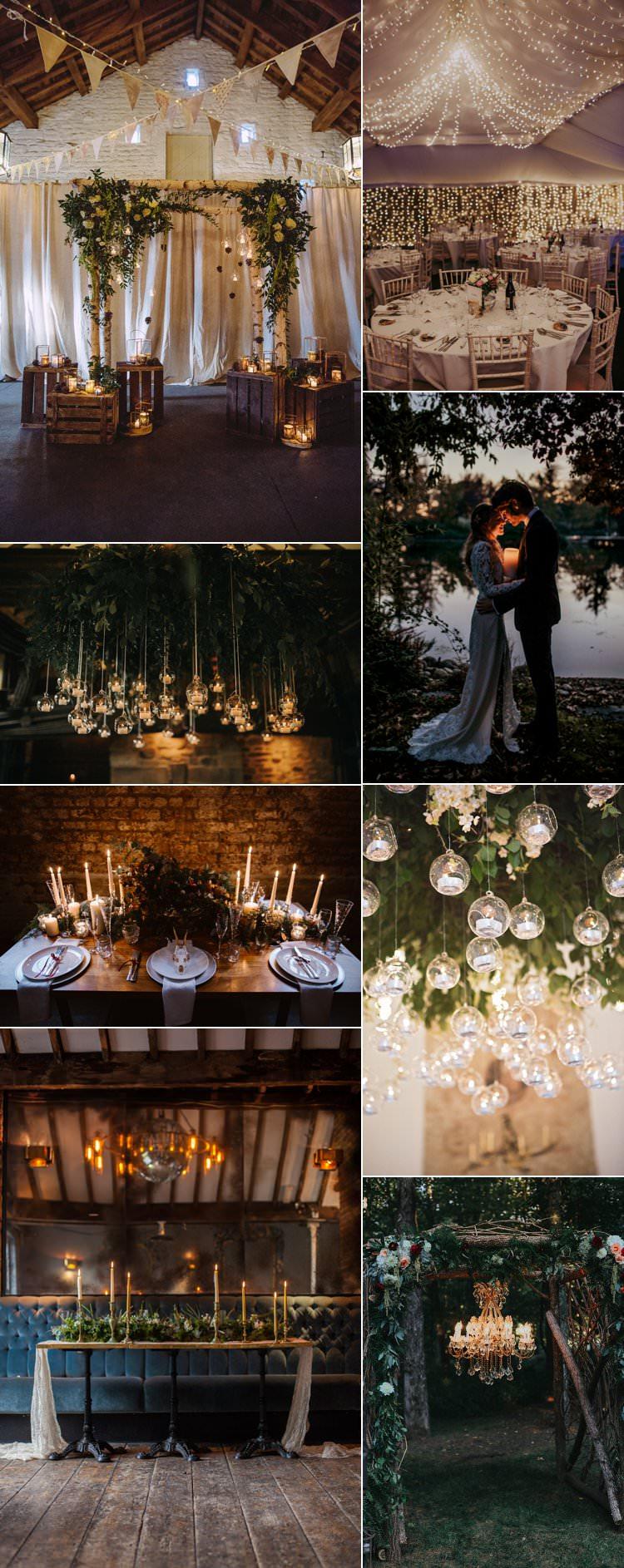 Wedding Lighting Christmas Winter Candles Fairy Lights