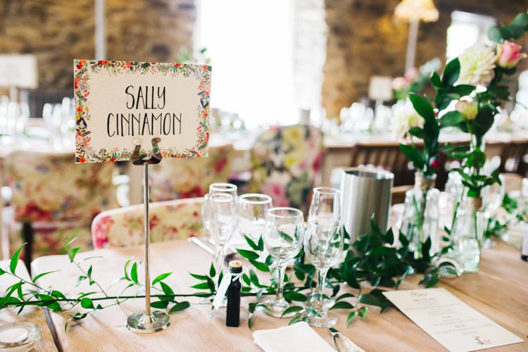 Table Name Centre Setting Foliage Colourful Floral Family Friendly Wedding http://www.sallytphoto.com/