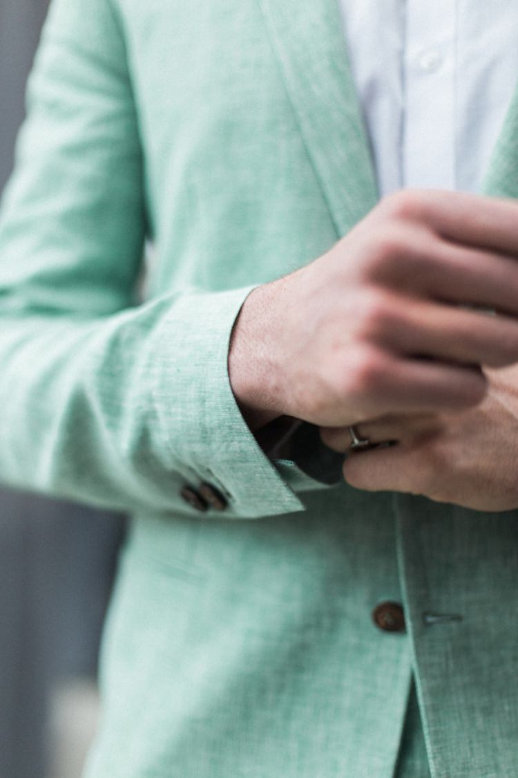 Groom Green Suit Prep Italian Stylish Cufflinks | Greenery Botanical Wedding Ideas https://lisadigiglio.com/