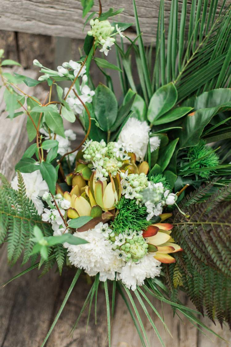Conservatory Wood Large Wild Untamed Cascading Bouquet Foliage Yellow White | Greenery Botanical Wedding Ideas https://lisadigiglio.com/