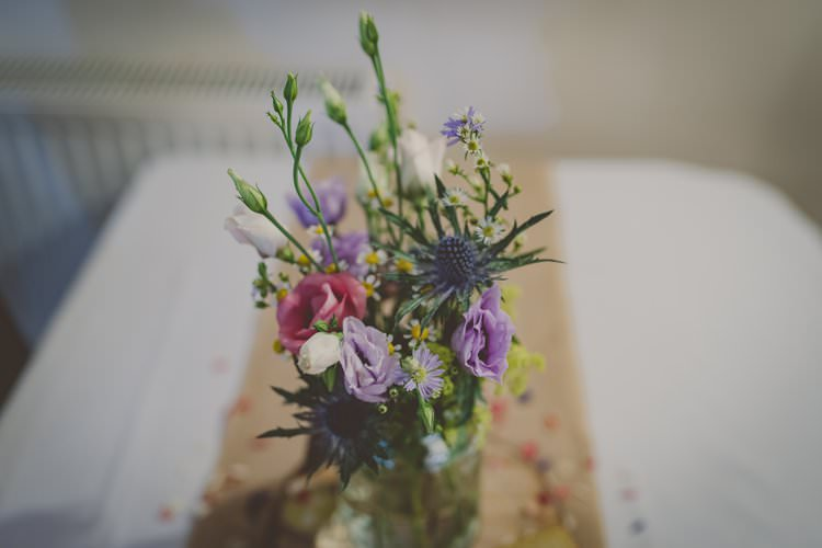 Jar Flowers Quirky Afternoon Tea Wedding http://laurarhianphotography.co.uk/