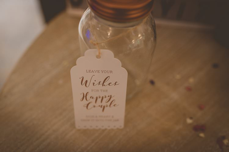 Wish Jar Guest Book Quirky Afternoon Tea Wedding http://laurarhianphotography.co.uk/