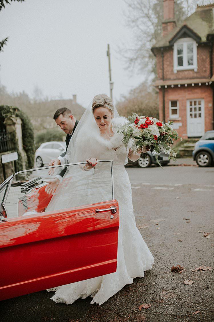 Lace Dress Gown Bride Bridal Traditional Christmas Wedding Red Festive https://lolarosephotography.com/
