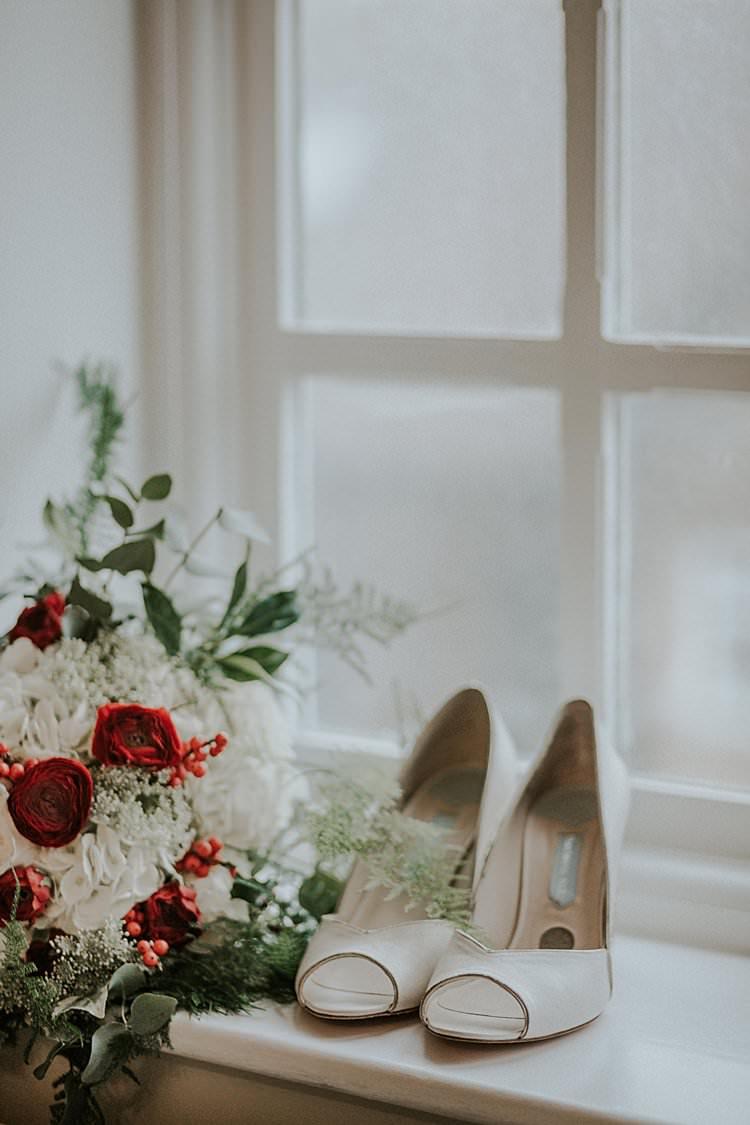 Charlotte Mills Shoes Traditional Christmas Wedding Red Festive https://lolarosephotography.com/