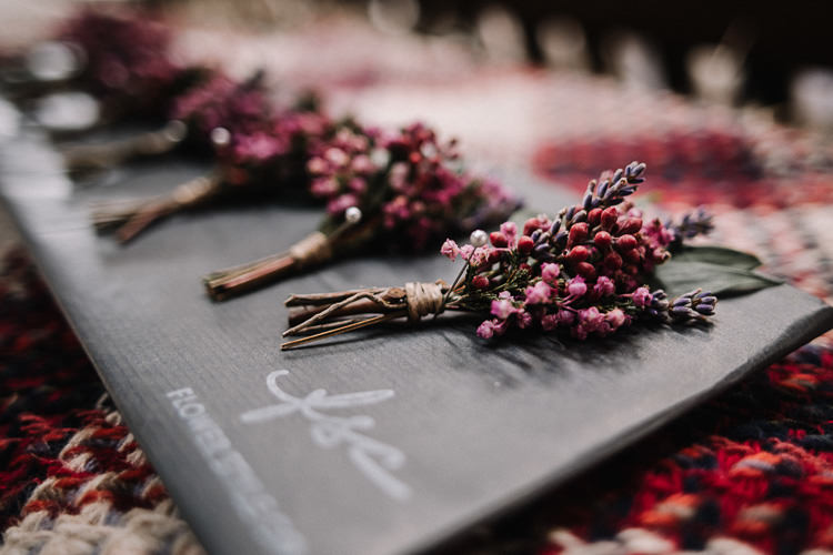 Buttonhole Lavender Luxe Rustic Autumn Berry Wedding http://www.oobaloosphotography.co.uk/