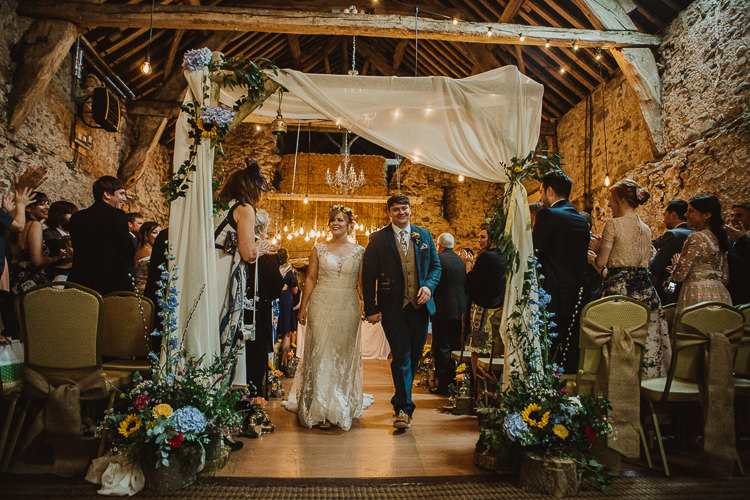 Arch Arbour Backrop Wooden Frame Drapes Fabric Flowers Ceremony Colourful DIY Floral Luxe Barn Wedding http://www.joemather-photography.co.uk/